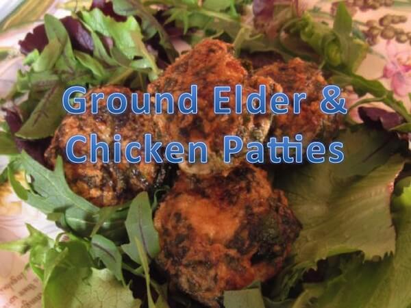 Ground Elder & Chicken Patties Recipe