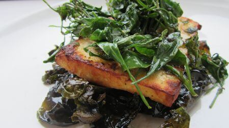Tofu Marinated In Ground Ivy