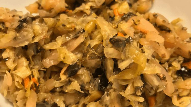 Laver Seaweed Sauerkraut Recipe