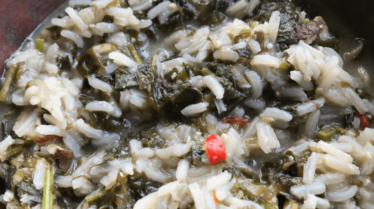 Hedge Mustard Rice Soup Recipe